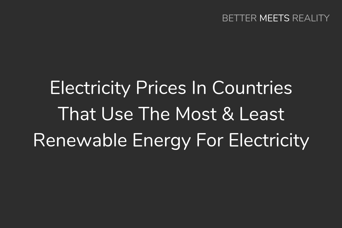 Electricity Prices In Countries That Use The Most & Least Renewable Energy For Electricity